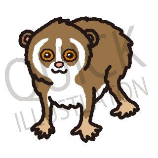 ノロマザル イラスト(動物、アイコン、猿)