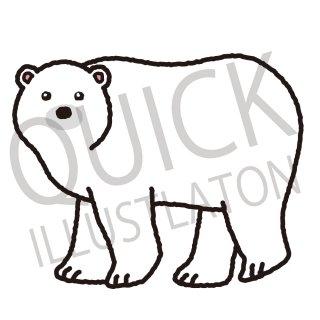 ホッキョクグマ イラスト(動物、アイコン、シロクマ、白熊、白くま)