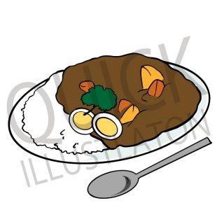カレーライス イラスト(食べ物、料理、クッキング、和食)