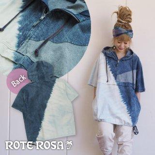 ROTE ROSA(ローテローザ)ブリーチデニムプルオーバー