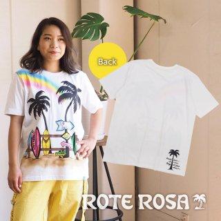 ROTE ROSA(ローテローザ) ヤシの木イラストTシャツ