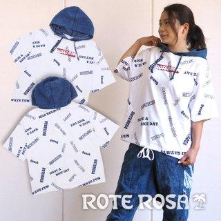 ROTE ROSA(ローテローザ) ちらばりロゴパーカーTシャツ