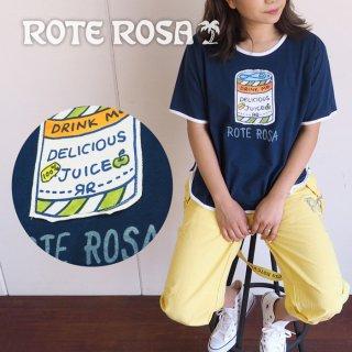 ROTE ROSA(ローテローザ) ジュースアップリケ パイピングTシャツ