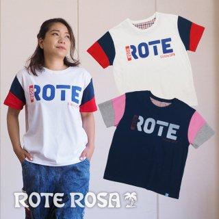 ROTE ROSA(ローテローザ) 袖配色Tシャツ