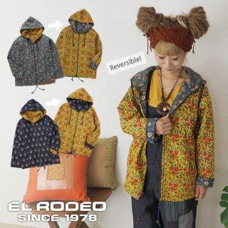 インド綿キルティングパーカージャケット