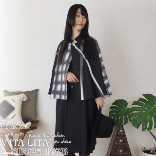 VITA LITA(ヴィータリータ)染めチェックインバネス(とんび)コート