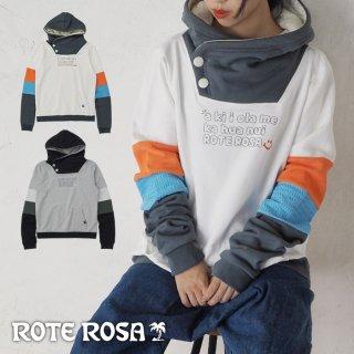 ROTE ROSA(ローテローザ)袖切り替えパーカートレーナー