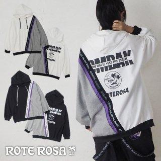 ROTE ROSA(ローテローザ)ななめテープ切り替えパーカートレーナー