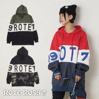 ROTE ROSA(ローテローザ)素材切り替えパーカートレーナー