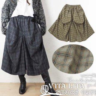 VITA LITA(ヴィータリータ)ウールはかま風パンツ