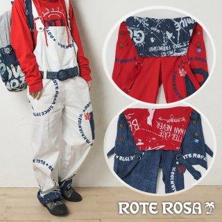 ROTE ROSA(ローテローザ)スタンプロゴオーバーオール