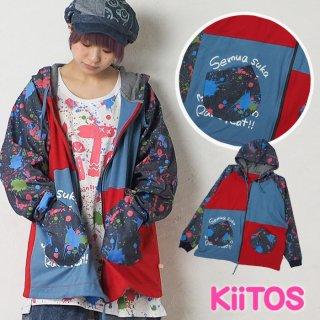 KiiTOS(キートス)ペンキプリント/ジップアップ/パーカーロンT