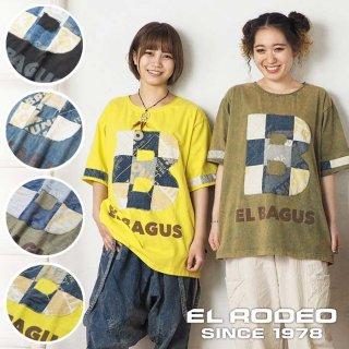 EL BAGUS BパッチワークアップリケTシャツ