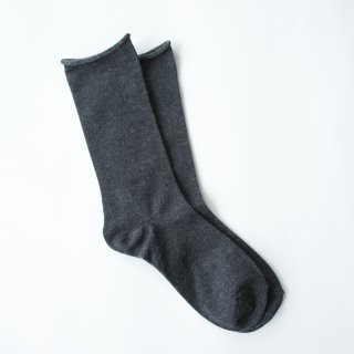 アルパカシルクのゴムなし靴下(ユニセックス) グレー