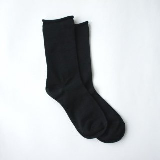 アルパカシルクのゴムなし靴下(ユニセックス) ブラック