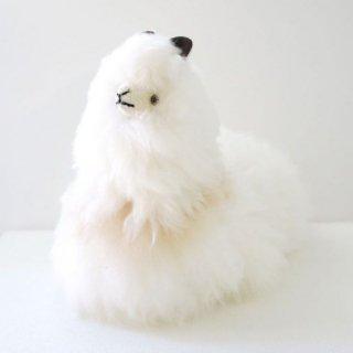 ふわふわアルパカ お座り人形 ホワイト