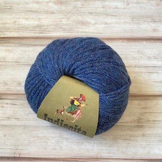 100%ベビーアルパカ毛糸【1玉】杢ブルー