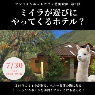 【2020年7月30日】 オンラインニットカフェ特別企画 参加チケット