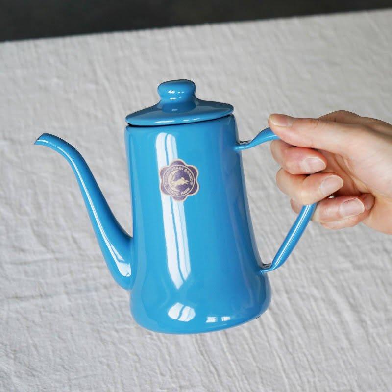 月兎印コーヒーポット<br>ブルー