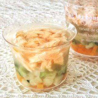 《無添加手作り》大山どりのささみと有機野菜のジュレ/栄養満点ごちそうテリーヌ