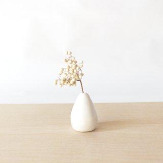 美濃焼 陶器 ドライフラワーベース「しずく・白」