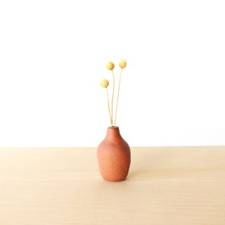 美濃焼 陶器 ドライフラワーベース「洋ナシ・茶」