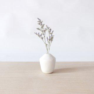 美濃焼 陶器 ドライフラワーベース「どんぐり  白」