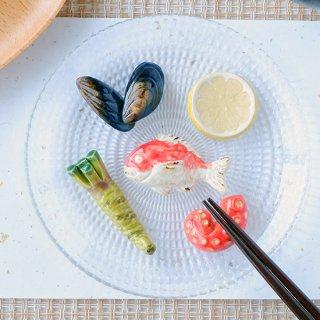 【ギフトにおすすめ】 「海の幸セット」(ムール貝/スライスレモン/鯛/わさび/煮ダコ)