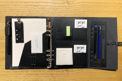 KAKURA 紐巻きA5システム手帳 ブラック