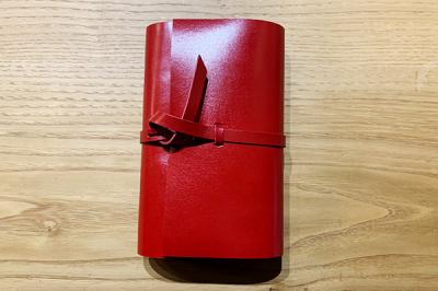 KAKURA 紐巻きバイブルシステム手帳 レッド