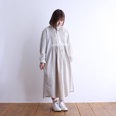 "<img class='new_mark_img1' src='https://img.shop-pro.jp/img/new/icons7.gif' style='border:none;display:inline;margin:0px;padding:0px;width:auto;' />Essentickle Re ""RL remake tack gather dress shirt (white check)"""