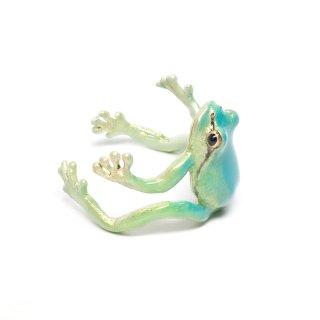 Nina【青いアマガエルのリング】 ネコポスは送料無料!