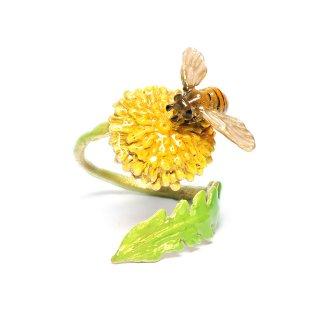 Nina【ミツバチとタンポポのリング】ネコポスは送料無料!