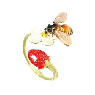 Nina【ミツバチとイチゴのリング】ネコポスは送料無料!