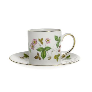 ウェッジウッド (WEDGWOOD) ワイルドストロベリー コーヒーカップ&ソーサー キャン