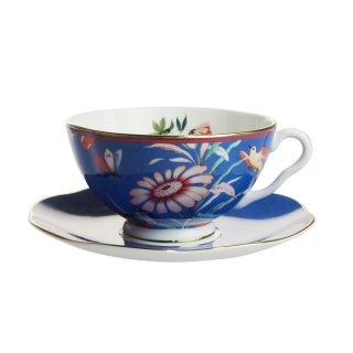 ウェッジウッド (WEDGWOOD) ペオニア ブラッシュ ティーカップ&ソーサー ブルー【Spring☆Sale】