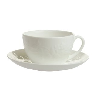 ウェッジウッド (WEDGWOOD) ワイルドストロベリー ホワイト ティーカップ&ソーサー