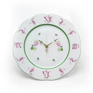ヘレンド (HEREND) VRH ウィーンのバラ ウォールクロック 壁掛け時計 28.5cm 00527