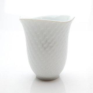 マイセン (Meissen) 波の戯れ ホワイトビーカー マグカップ 55404