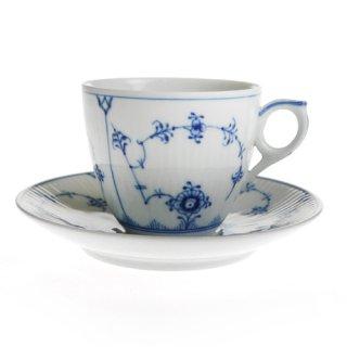 ロイヤルコペンハーゲン ブルーフルーテッド プレイン 101-071 コーヒーカップ&ソーサー【Winter*Sale】