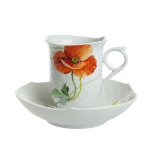 マイセン (Meissen) ワイルドポピー コーヒーカップ&ソーサー29582【Winter*Sale】