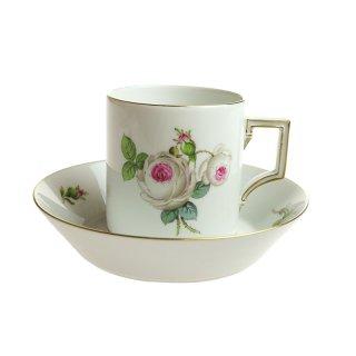 マイセン (Meissen) ホワイトローズ コーヒーカップ&ソーサー 55895