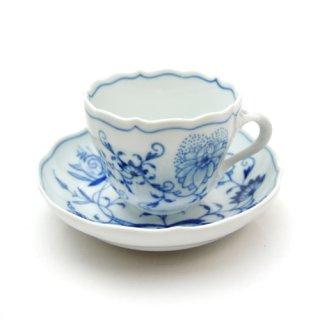 マイセン (Meissen) ブルーオニオン コーヒーカップ&ソーサー モカ 00580
