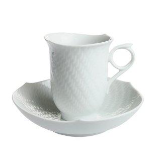 マイセン (Meissen) 波の戯れホワイト コーヒーカップ &ソーサー 29582