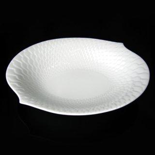 マイセン (Meissen) 波の戯れホワイト オーバルボウル21.5cm 29283
