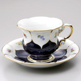 マイセン (Meissen) 金彩小花 コバルト コーヒーカップ&ソーサー 16582