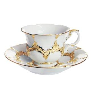 マイセン (Meissen) 金彩 ホワイトゴールド コーヒーカップ&ソーサー 200ml 999979/15582