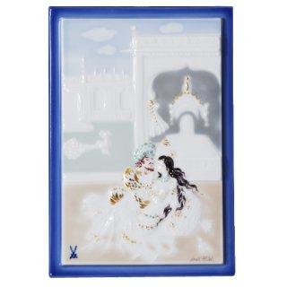 マイセン (Meissen) 陶画 930013/9P314(931091/95N63) ミニ 千夜一夜(テラスの王様と王妃)