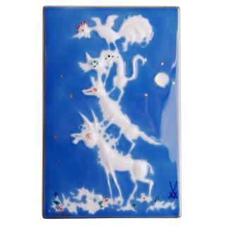 マイセン (Meissen) 陶画 青のメルヘン ブレーメン 93005/9P331