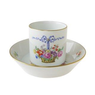 【証明書付き】マイセン (Meissen)ミレニアム No.42 花かご コーヒーカップ&ソーサー<br>【2000年/世界限定50個】